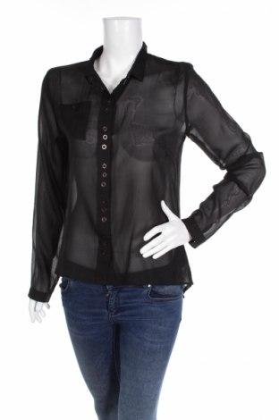 Γυναικείο πουκάμισο Sisters Point, Μέγεθος S, Χρώμα Μαύρο, 100% πολυεστέρας, Τιμή 20,10€