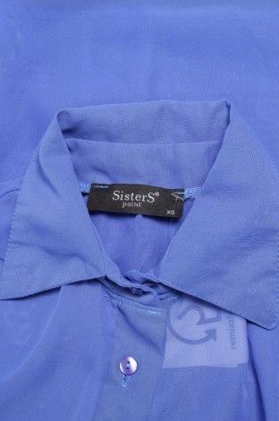 Γυναικείο πουκάμισο Sisters Point, Μέγεθος XS, Χρώμα Μπλέ, 100% πολυεστέρας, Τιμή 11,75€