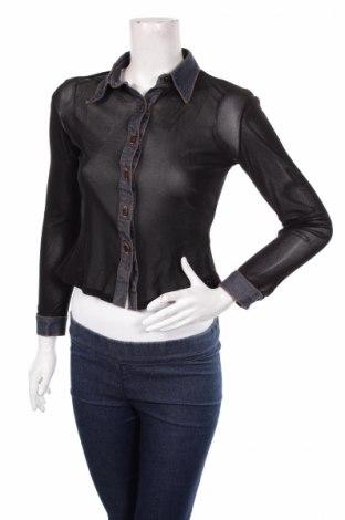 Γυναικείο πουκάμισο Tally Weijl, Μέγεθος XS, Χρώμα Μαύρο, Τιμή 14,23€
