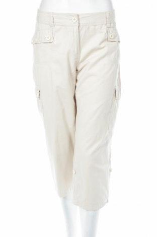 Γυναικείο παντελόνι One Touch, Μέγεθος L, Χρώμα Εκρού, 40% βαμβάκι, 39% πολυεστέρας, 21% πολυαμίδη, Τιμή 4,46€