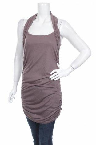 Γυναικείο αμάνικο μπλουζάκι Isabella Rodriguez, Μέγεθος L, Χρώμα Καφέ, 65% πολυεστέρας, 35% βισκόζη, Τιμή 4,80€