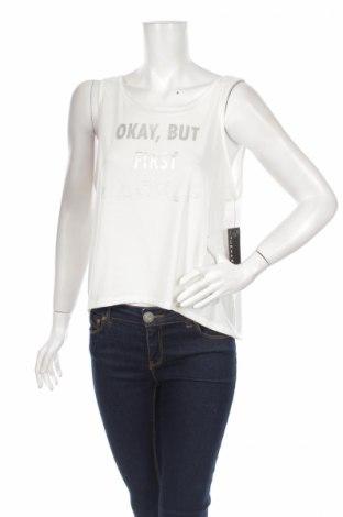 Γυναικείο αμάνικο μπλουζάκι Jessica Simpson, Μέγεθος L, Χρώμα Λευκό, 95% πολυεστέρας, 5% ελαστάνη, Τιμή 4,36€