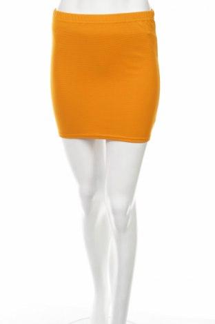 Пола Amisu, Размер XS, Цвят Жълт, 95% полиестер, 5% еластан, Цена 5,06лв.