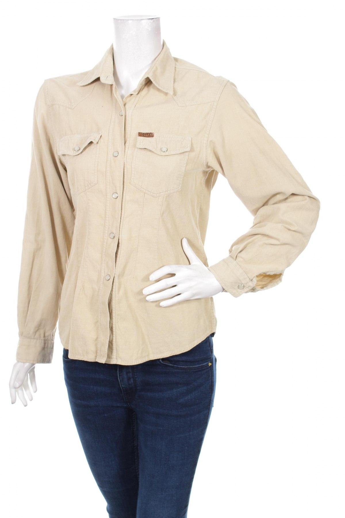 Γυναικείο πουκάμισο, Μέγεθος M, Χρώμα  Μπέζ, Τιμή 13,92€