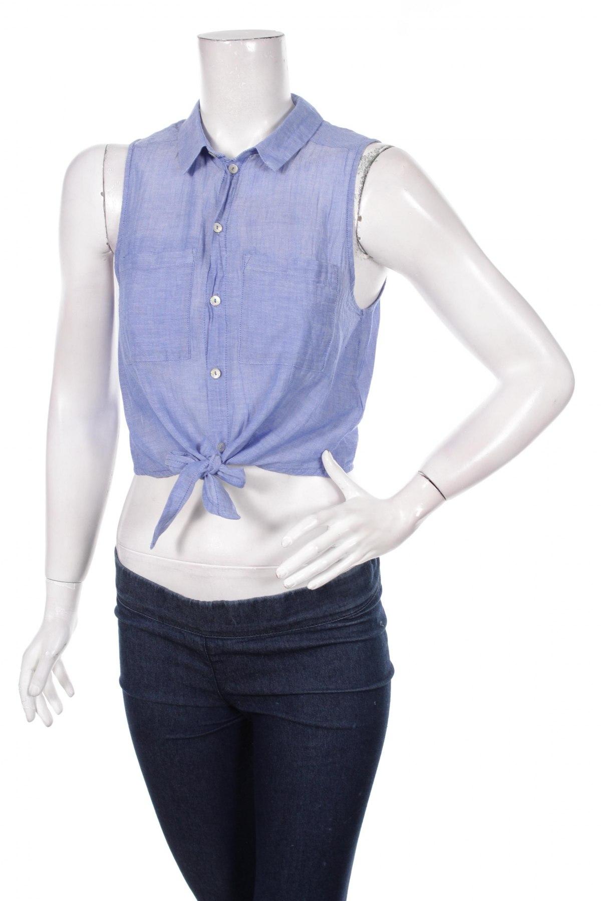 Γυναικείο πουκάμισο H&M Divided, Μέγεθος M, Χρώμα Μπλέ, Βαμβάκι, Τιμή 11,75€