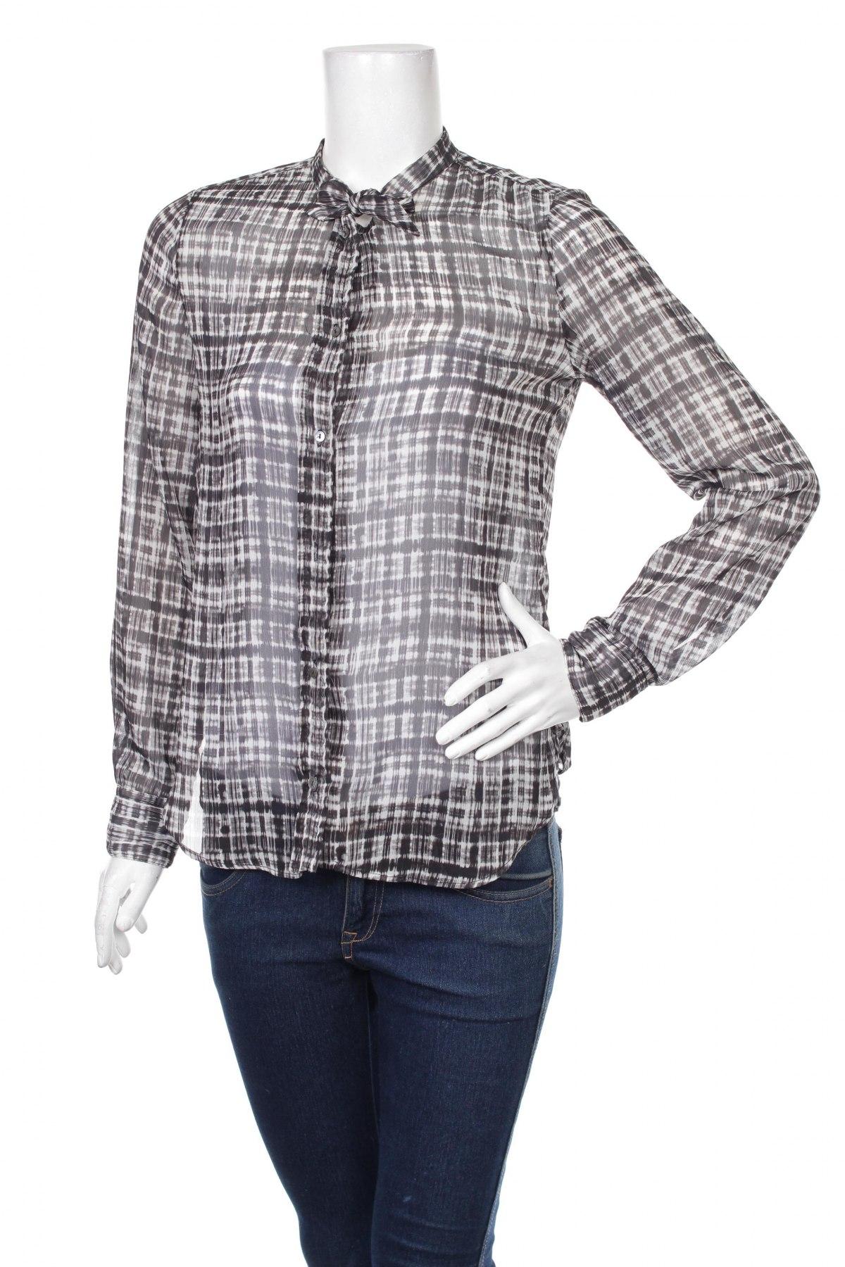 Γυναικείο πουκάμισο Mango, Μέγεθος S, Χρώμα Μαύρο, Πολυεστέρας, Τιμή 15,46€
