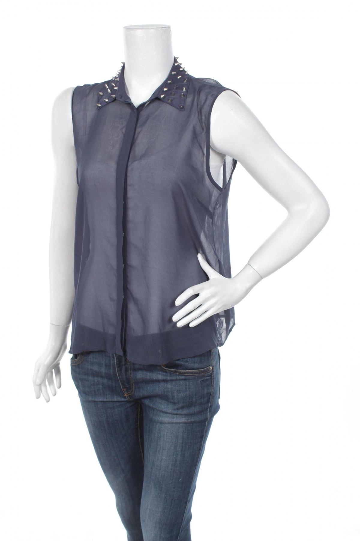 Γυναικείο πουκάμισο Sparkle & Fade, Μέγεθος M, Χρώμα Μπλέ, Τιμή 9,90€