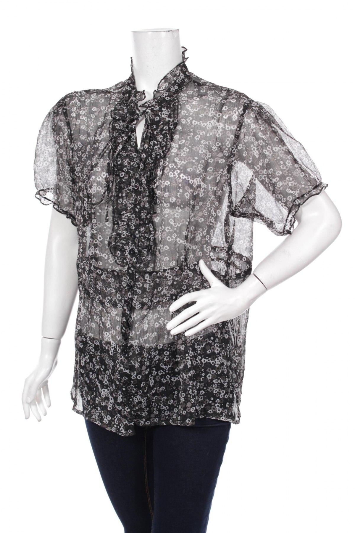 Γυναικείο πουκάμισο W.O.B, Μέγεθος XL, Χρώμα Μαύρο, Πολυεστέρας, Τιμή 14,74€