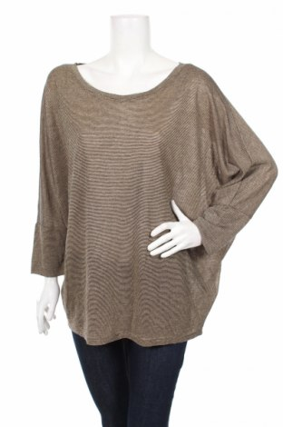 Дамска блуза Flame, Размер XL, Цвят Бежов, 90% вискоза, 6% метални нишки, 4% полиамид, Цена 4,50лв.