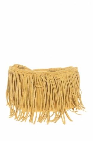 Γυναικεία τσάντα Reserved, Χρώμα Κίτρινο, Φυσικό σουέτ, Τιμή 13,14€