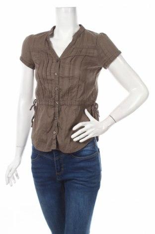 Γυναικείο πουκάμισο H&M, Μέγεθος S, Χρώμα Καφέ, Βαμβάκι, Τιμή 4,42€