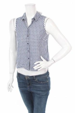 Γυναικείο πουκάμισο New Look, Μέγεθος M, Χρώμα Μπλέ, 88% βαμβάκι, 12% πολυεστέρας, Τιμή 4,22€