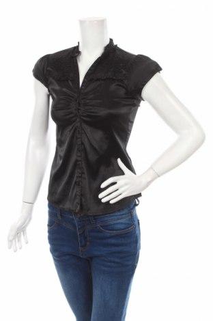 Дамска риза Tara, Размер XS, Цвят Черен, 97% полиестер, 3% еластан, Цена 6,28лв.