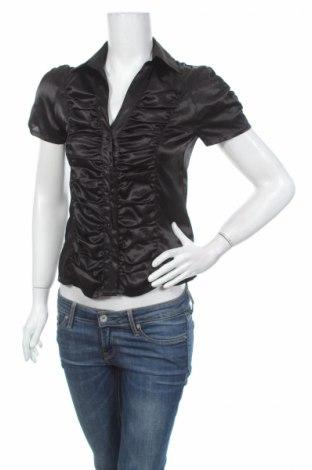 Дамска риза Y.o.u, Размер XS, Цвят Черен, 100% полиестер, Цена 4,25лв.