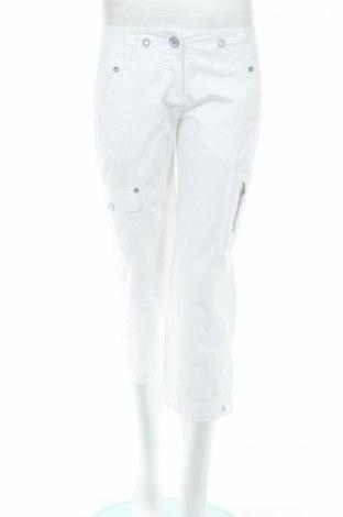 Дамски панталон Tom Tailor, Размер XS, Цвят Бял, Памук, Цена 6,80лв.