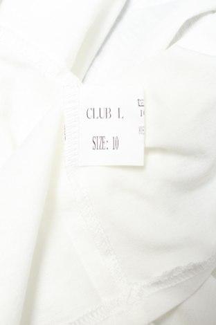 Дамски потник Club L, Размер M, Цвят Бял, Полиестер, Цена 27,75лв.