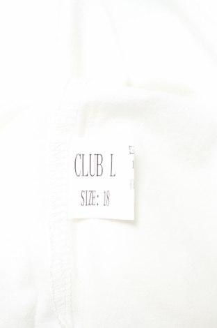 Дамски потник Club L, Размер XXL, Цвят Бял, Полиестер, Цена 24,05лв.