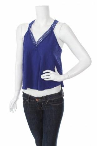 Γυναικείο αμάνικο μπλουζάκι Lush, Μέγεθος M, Χρώμα Μπλέ, Πολυεστέρας, Τιμή 1,59€