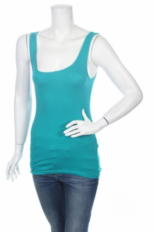 Γυναικείο αμάνικο μπλουζάκι Mossimo, Μέγεθος M, Χρώμα Μπλέ, 58% βαμβάκι, 39% μοντάλ, 3% ελαστάνη, Τιμή 3,90€
