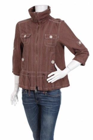 Дамско яке, Размер M, Цвят Кафяв, 67% лен, 33% полиамид, Цена 8,84лв.