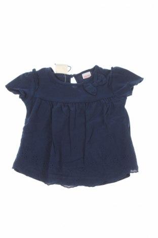 Детска блуза Zara, Размер 6-9m/ 68-74 см, Цвят Син, 100% памук, Цена 10,35лв.