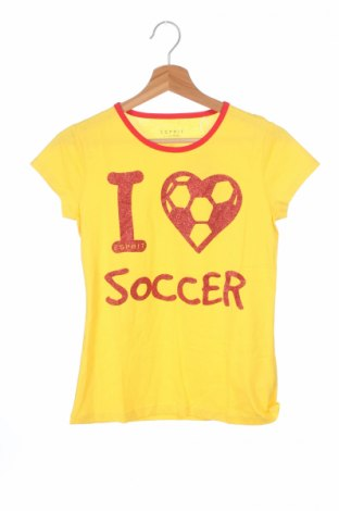 Детска тениска Esprit, Размер 13-14y/ 164-168 см, Цвят Жълт, 100% памук, Цена 13,80лв.