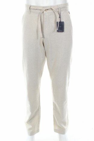 Мъжки панталон Mc Neal, Размер M, Цвят Бежов, 50% памук, 50% лен, Цена 34,30лв.
