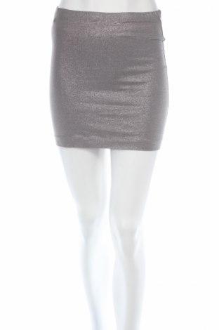Пола H&M, Размер S, Цвят Сребрист, 95% памук, 5% еластан, Цена 4,80лв.