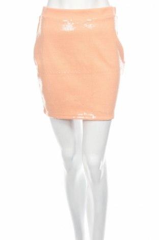 Пола H&M, Размер S, Цвят Оранжев, 77% полиестер, 19% вискоза, 4% еластан, Цена 6,83лв.