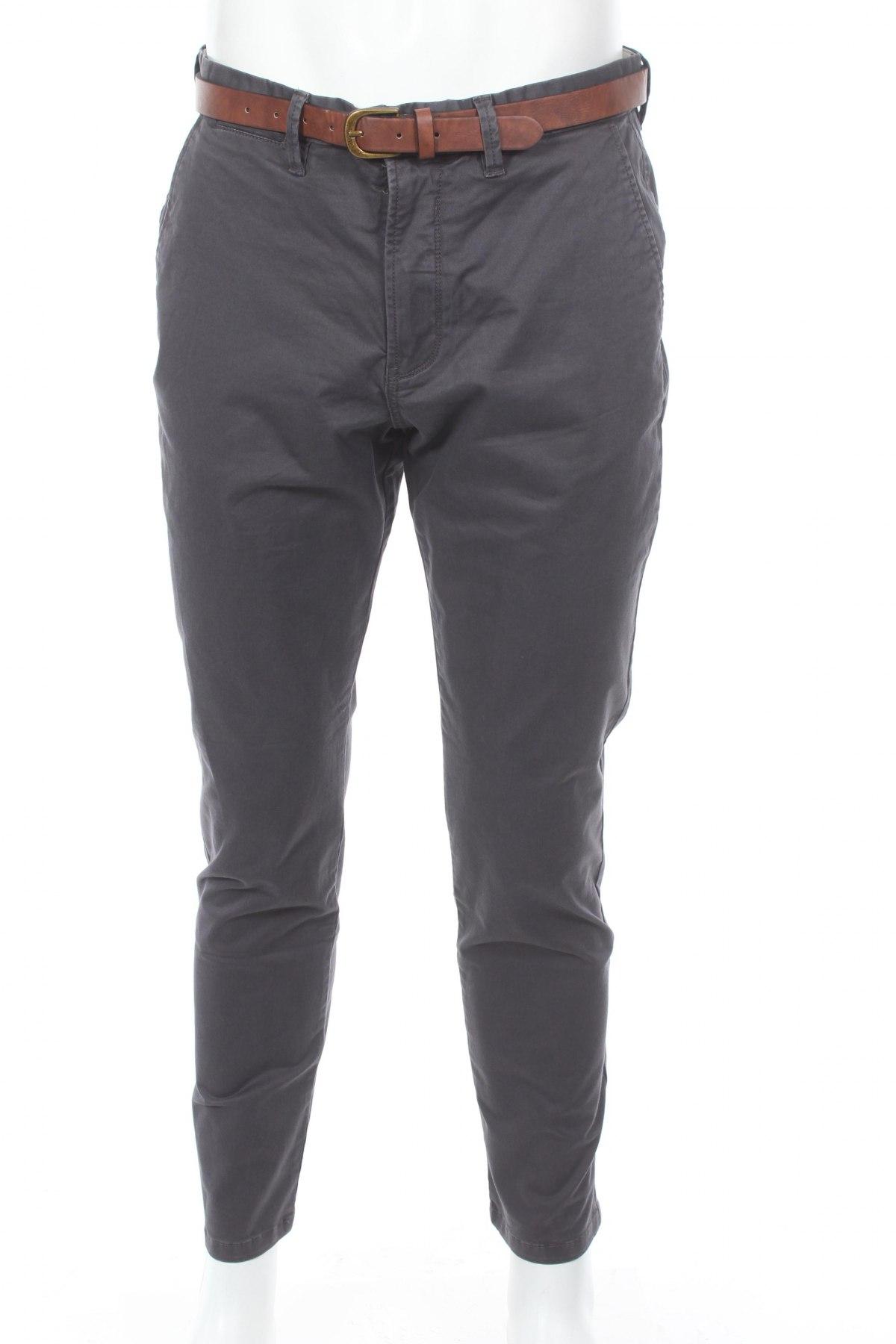 Мъжки панталон Jack & Jones, Размер M, Цвят Сив, 98% памук, 2% еластан, Цена 63,70лв.