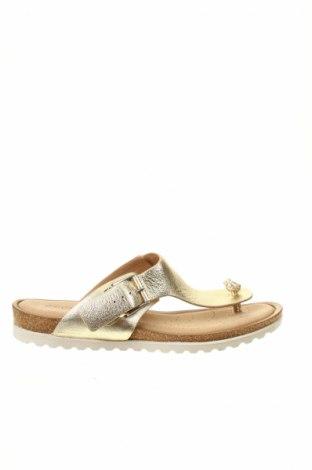 Papuci de casă Ecco, Mărime 39, Culoare Auriu, Piele naturală, Preț 151,58 Lei