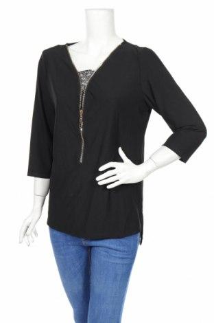 Дамска блуза Allison Brittney, Размер L, Цвят Черен, 95% полиестер, 5% еластан, Цена 4,73лв.