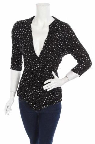 Дамска блуза Atmos & Here, Размер S, Цвят Черен, Вискоза, Цена 8,14лв.