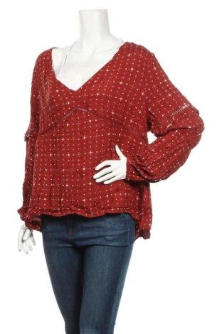 Дамска блуза Atmos & Here, Размер 3XL, Цвят Кафяв, Вискоза, Цена 4,99лв.