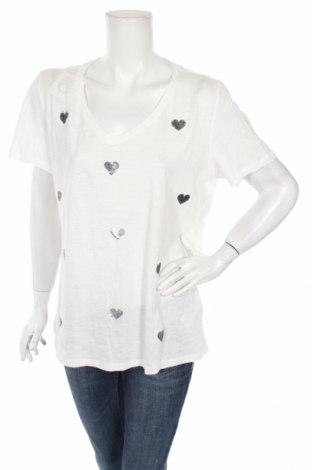 Дамска блуза Tom Tailor, Размер XXL, Цвят Бял, Памук, Цена 35,28лв.