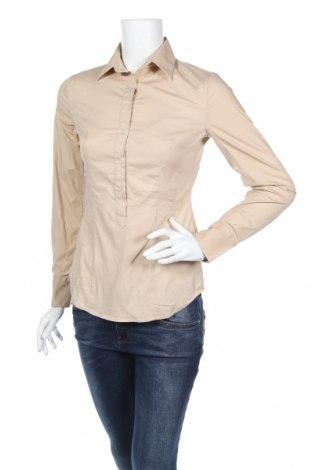 Дамска блуза United Colors Of Benetton, Размер XS, Цвят Бежов, 97% памук, 3% еластан, Цена 7,02лв.