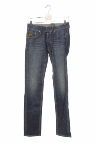 Дамски дънки G-Star Raw, Размер XS, Цвят Син, 98% памук, 2% еластан, Цена 5,34лв.