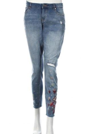 Дамски дънки Q/S by S.Oliver, Размер M, Цвят Син, 99% памук, 1% еластан, Цена 57,00лв.