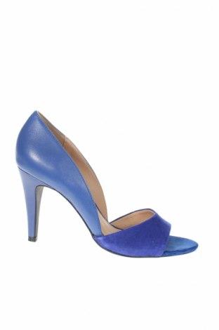 Încălțăminte de damă Jacqueline Riu, Mărime 37, Culoare Albastru, Piele naturală, velur natural, Preț 162,11 Lei