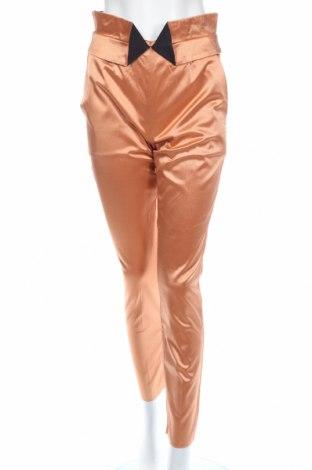 Дамски панталон Just Cavalli, Размер M, Цвят Оранжев, 57% вискоза, 41% памук, 2% еластан, Цена 54,21лв.