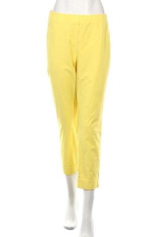 Γυναικείο παντελόνι Stehmann, Μέγεθος XL, Χρώμα Κίτρινο, 48% βαμβάκι, 47% πολυαμίδη, 5% ελαστάνη, Τιμή 24,19€