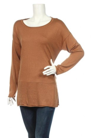 Дамски пуловер Maite Kelly by Bonprix, Размер L, Цвят Кафяв, 40% вискоза, 30% полиамид, 25% полиестер, 5% кашмир, Цена 13,20лв.