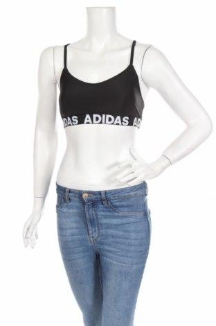 Γυναίκειο αθλητικό τοπ Adidas, Μέγεθος M, Χρώμα Μαύρο, Τιμή 15,81€