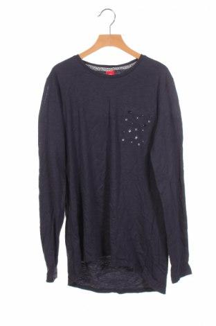 Детска блуза S.Oliver, Размер 15-18y/ 170-176 см, Цвят Син, Памук, Цена 8,40лв.