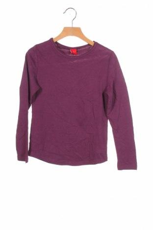 Детска блуза S.Oliver, Размер 8-9y/ 134-140 см, Цвят Лилав, Памук, Цена 8,64лв.