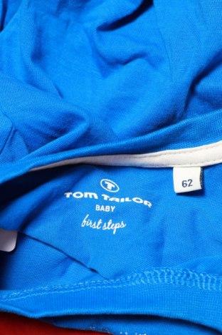 Детска блуза Tom Tailor, Размер 2-3m/ 56-62 см, Цвят Син, Памук, Цена 3,20лв.