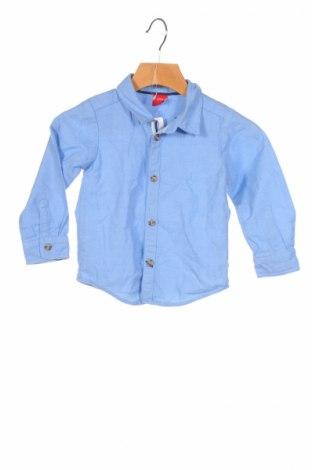 Παιδικό πουκάμισο S.Oliver, Μέγεθος 12-18m/ 80-86 εκ., Χρώμα Μπλέ, Βαμβάκι, Τιμή 5,69€