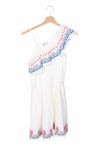 Детска рокля Abercrombie Kids, Размер 14-15y/ 168-170 см, Цвят Бял, 55% памук, 45% вискоза, Цена 67,32лв.