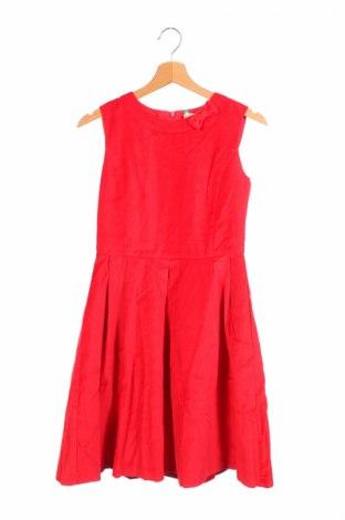 Детска рокля United Colors Of Benetton, Размер 15-18y/ 170-176 см, Цвят Червен, 81% памук, 19% вискоза, Цена 62,30лв.