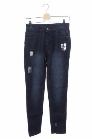 Детски дънки John Baner, Размер 13-14y/ 164-168 см, Цвят Син, 82% памук, 17% полиестер, 1% еластан, Цена 13,50лв.